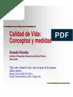 Calidad de Vida - Rossella Palomba