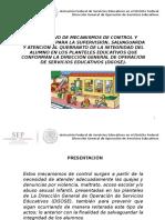 INSTRUCTIVO DE MECANISMO DE CONTROL Y SEGUIMIENTO PARA LA   SUPERVISIu00D3N, SALVAGUARDA Y ATENCIu00D3N AL QUEBRANTO DE ~1