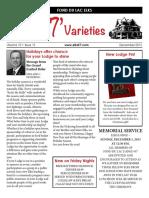 2013 Varieties