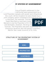 Proprietary System of Government