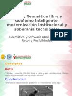 3as Jornadas gvSIG México. Conferencia Magistral