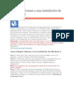 Integrar Idiomas a Una Instalación de Windows 8