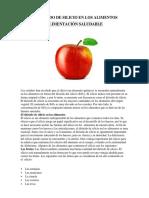 Dioxido de Silicio en Alimentos - 7