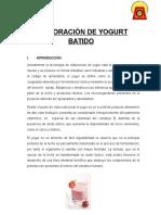 Informe Listo de Yogurt