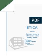 Articulo de La Diferencia Etica y Moral
