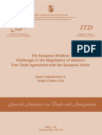 The European Window- Challenges in the Negotiation of Mexico¿s Free Trade Agreement With the European Union