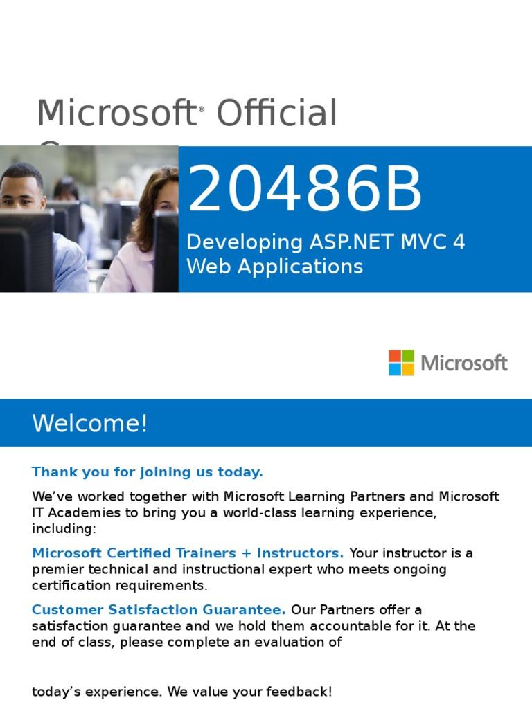 Developing Asp Mvc 4 Web Applications 20486b Modelview