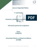 Unidad 0. Evolucion y Tendencias de La Criminalidad en Mexico