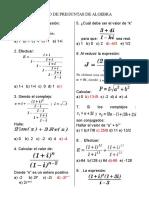 Banco de Preguntas 4 Algebra