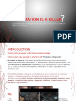 Does Information Kill?