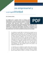Confianza Empresarial y Competitividad