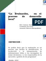 Evaluacion en El Desarrollo Local