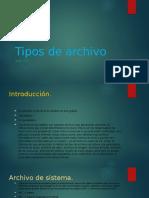 Tipos de Archivo