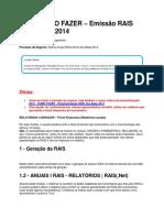 Como Fazer – Emissão Rais Ano Base 2014