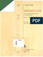 De Saussure. Génesis y Evolución de Su Pensamiento... (Koerner)