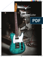 2016 Fender Custom Shop Quote Guide