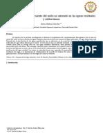 Evaluación del comportamiento del agua subterranea