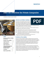 D&O an Overview for Private Companies