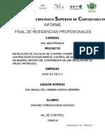 Instalación de Válvula FISHER GX Con Controlador DVC6200 REPORTE