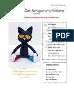 Pete the Cat Amigurumi Pattern
