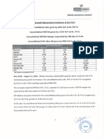 Results Press Release for June 30, 2016 [Result]