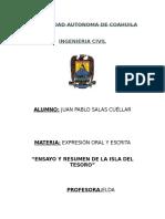 Ensayo y Resumen Isla Del Tesoro