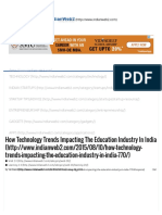 How Technology Trends Impacting the Education Industry in India