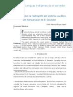 Artículo de Las Vocales Del Pipil.