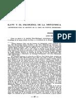 Jaime Hoyos Vásquez - Kant y el problema de la metafísica