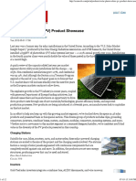 Solar Photovoltaic (PV) Product Showcase