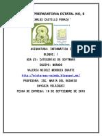 ADA 3 Categoría de Software
