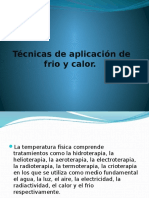 Tecnica de Calor y Frio Expocision