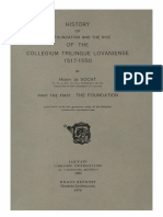Humanistica Lovaniensia Vol. 10, 1951_HISTORY OF THE FOUNDATION AND THE RISE OF THE COLLEGIUM TRILINGUE LOVANIENSE 1517-1550_PART THE FIRST_THE FOUNDATION.pdf