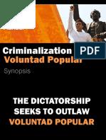 La Criminalizacion de VP Resumen en Inglés