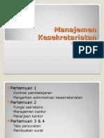 f 23163 Manajemen Kesekertariatan Week1