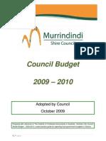 Murrindindi Shire Council Budget 2009-10 Final