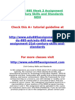 ASH EDU 695 Week 2 Assignment 21st Century Skills and Standards NEW