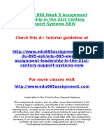ASH EDU 695 Week 5 Assignment Leadership in the 21st Century Support Systems NEW