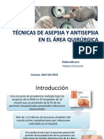 Asepsia y Antisepsia en El Área Quirúrgica