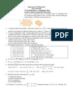 Differential Calculus (Tutorial Problems 2016)