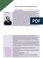 Cuadro Comparativo Wundt y Primeros Estudios Experimentales