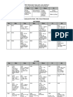 B & B Rehearsal Schedule