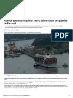 Nuevos estudios respaldan teoría sobre mayor antigüedad de Panamá.pdf