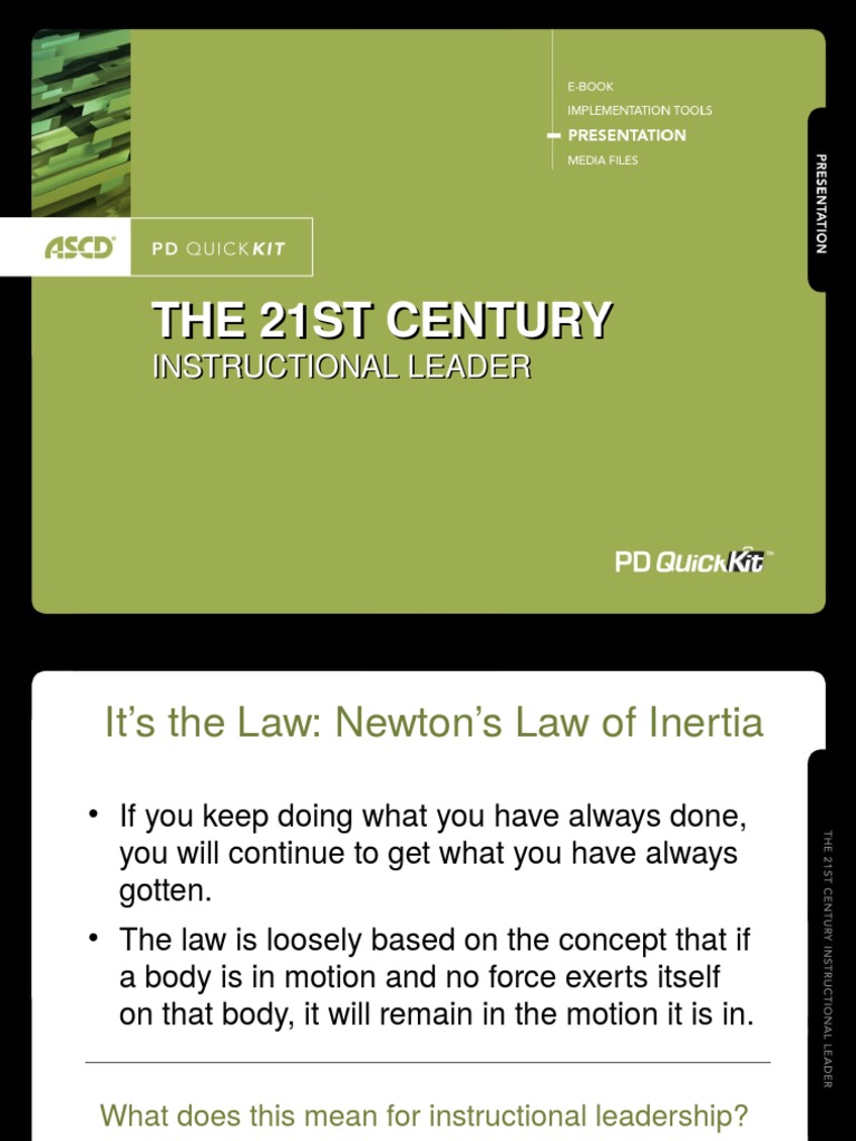 The 21st Century Instructional Leader Lecture 2ppt Leadership