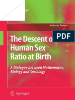 Descent of Human Sex Ratio at Birth
