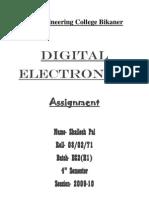 Combinational Logic Circuit Assignment