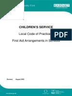 5 First Aid Arrangements in Schools