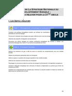 Synthese de La SNDD - Defis Et Enjeux