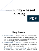 Community – Based Nursing