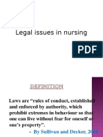 Legal Issues in Nursings